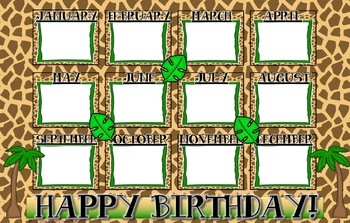 Jungle Theme Birthday Poster