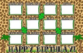Jungle Theme Birthday Poster