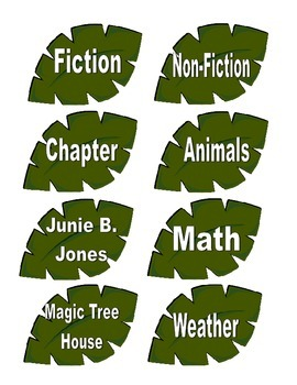 Jungle Theme Book Labels