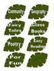Jungle Theme Book Labels