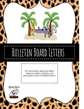 Jungle Theme Bulletin Board Letters