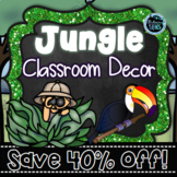 Jungle Theme Classroom Decor Bundle   Classroom Theme Decor Bundle