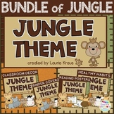 Jungle Theme Bundle - Decor, Binder Covers, Reading & Heal