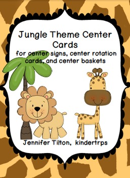 Jungle Theme Center Cards