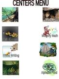 Jungle Theme Centers Menu