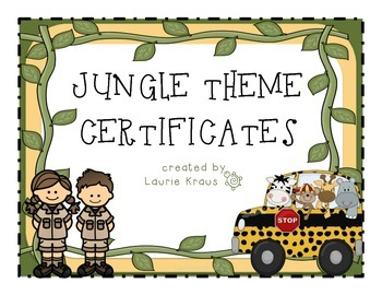 Jungle Theme Certificates