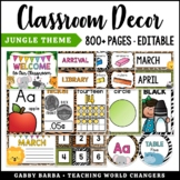 Jungle Classroom Decor