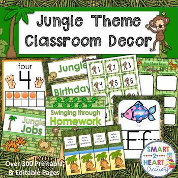 Jungle Theme Classroom Decor Bundle