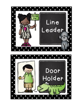 Jungle Theme Classroom Job Chart