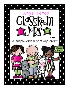 Jungle Theme Classroom Job Chart
