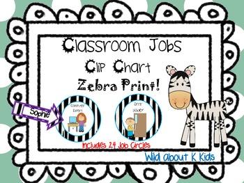 Jungle Theme Classroom Job Clip Chart