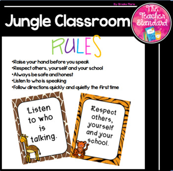Jungle Theme Classroom Rules