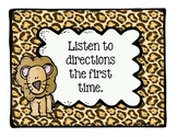 Jungle Theme Classroom Rules Posters