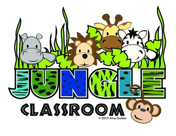Jungle Theme Classroom (decorations, bulletin boards, labels...)