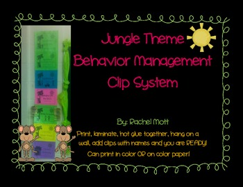 Jungle Theme Clip Behavior Management System