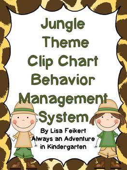 Jungle Theme Clip Chart Behavior Management System