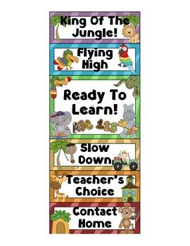Behavior Clip Chart - Jungle by Marlie Rose | Teachers Pay ...