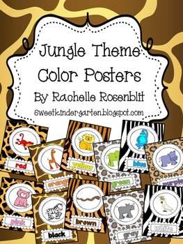 Jungle Theme Color Posters