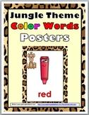 Jungle Theme Classroom Decor Color Words Posters