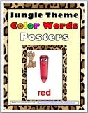 Jungle Theme Classroom Decor Color Words Posters