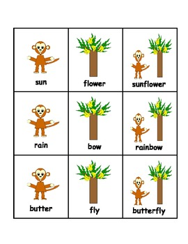 Jungle Theme Compound Words