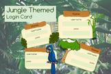 Jungle Theme Computer Login Cards