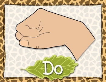 Jungle Theme Curwen Solfege Hand Signs