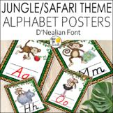 Jungle Theme D'Nealian Alphabet Posters, Jungle Theme Clas