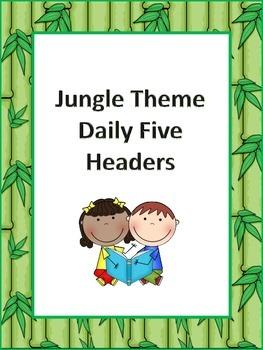 Jungle Theme Daily Five Headers