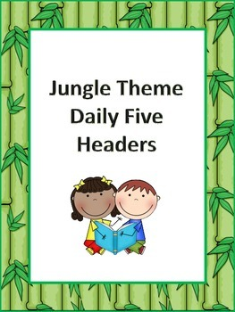 Jungle Theme Daily Five Headers