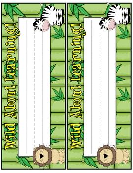 Jungle Theme - Desk Nametags/Nameplates
