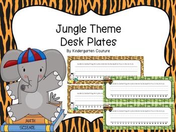 Jungle Theme Desk Plates