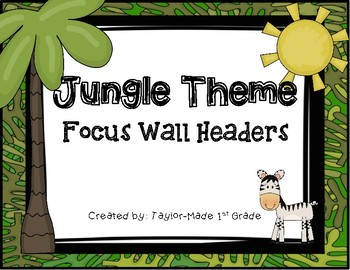 Jungle Theme Focus Wall Headers_Reading Street
