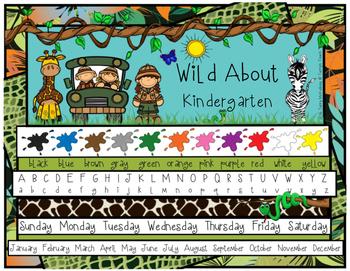Jungle/Safari/Zoo Theme Folder or Table Resource Mat