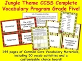 Jungle Theme Grade Five CCSS Complete Vocabulary Program