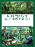 Jungle Theme Homework and Take-Home Folder- Editable