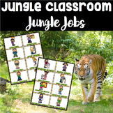 Jungle Theme Jobs Bulletin Board Set