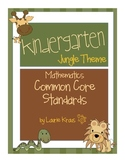 Jungle Theme Kindergarten Common Core Math