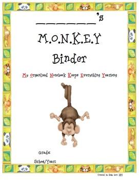 Jungle Theme MONKEY Homework Book