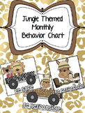 Jungle Theme Monthly Behavior Chart (Editable)