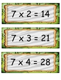 Jungle Theme Mulitiplication Facts