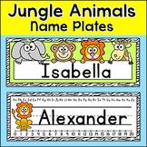 Jungle Animals Desk Name Plates - Editable