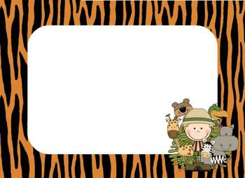 Jungle Theme Name Tags By Crystal Woytko Teachers Pay