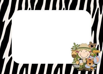 Jungle Theme Name Tags