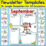 Jungle Theme Newsletter Templates