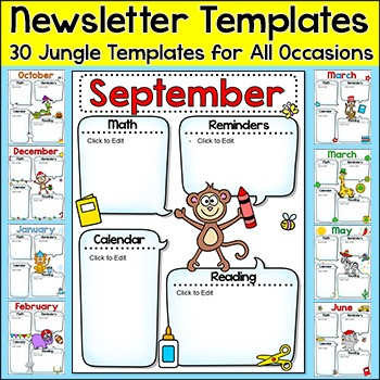 Jungle Theme Newsletter Templates