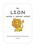 Jungle LION (Learning is Organized Notebook) Cover