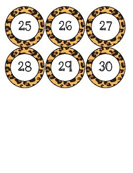Jungle Theme Number Circles