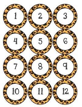 Jungle Theme Number Circles