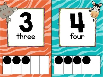 Jungle Theme Number Line